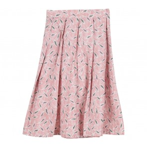 Geulis Pink Patterned Skirt