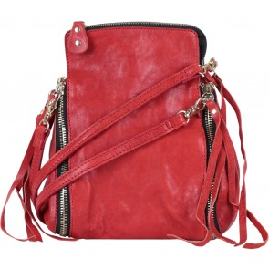Pla Red Zipper Shoulder Bag