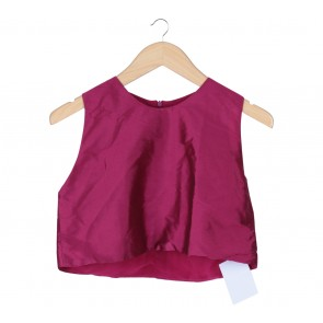 House Of Ph Purple Cropped Sleeveless