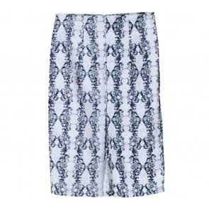Paulina Katarina White Patterned Skirt
