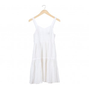 DKNY White Sleeveless Mini Dress
