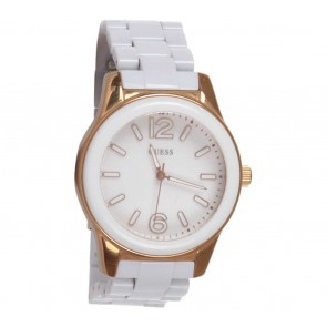 Guess White Chain Watch