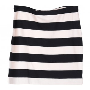 H&M Black And Cream Striped Skirt