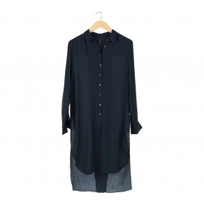 Stradivarius Dark Blue Shirt