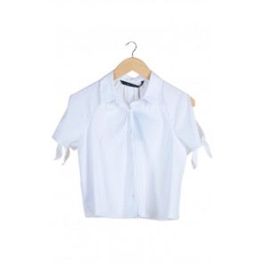 White Tied Sleeves Shirt