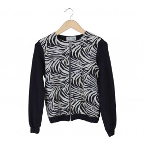 Pull & Bear Black And Off White Zebra Jacket