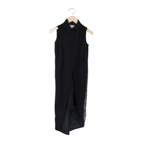 (X)SML Black Layered Midi Dress