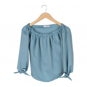 Beatrice Clothing Blue Bardots Blouse