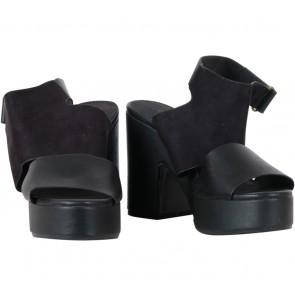 Divided Black Platform, Ankle Strap Heels