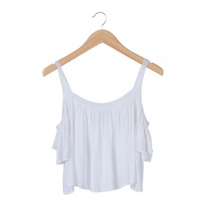 Forever 21 White Off Shoulder Blouse