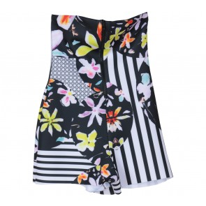 MDS Black And White Floral Jumpsuit