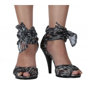 Nine West Grey And Black Animal Print Heels