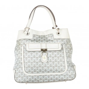 Anya Hindmarch Cream And Grey Monogram Shoulder Bag