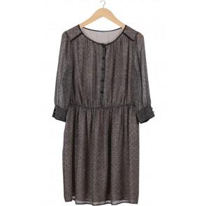 Black Dotted Mini Dress