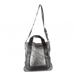 Chloe Silver And Brown Satchel
