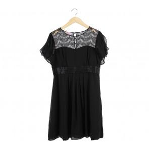 Monsoon Black Combi Lace Mini Dress