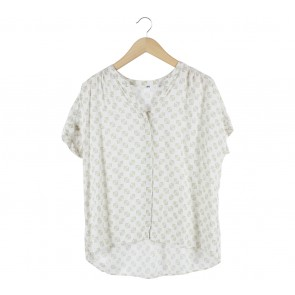 UNIQLO Off White Patterned Blouse