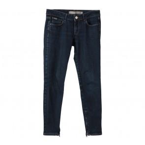 Zara Dark Blue Denim Zippered Pants