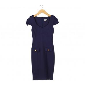 Asos Dark Blue Midi Dress