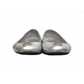 Alexander McQueen Silver Flats
