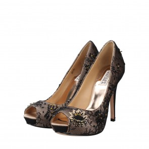 Badgley Mischka Black Stella Natsat Pump Heels