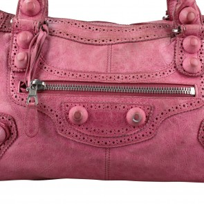 Balenciaga Pink Giant Part Time Shoulder Bag