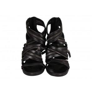 Balmain x Giuseppe Zanotti Black Sandals