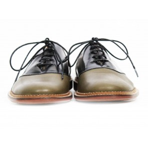 Opening Ceremony Black and Green Bicolor Oxfords