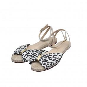 Charlotte Olympia Cream Leopard Sandals