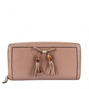 Gucci Nude Bamboo Tassel Leather Wallet