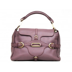 Jimmy Choo Purple Top Handle Shoulder Bag