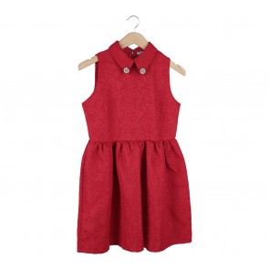 Chic Simple Red Mini Dress