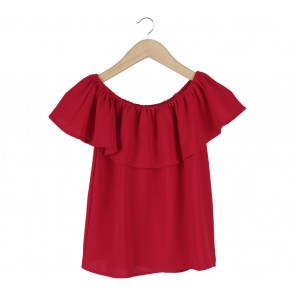 Lookboutiquestore Red Bardot Blouse