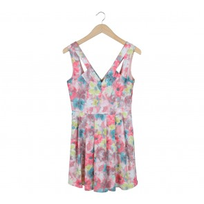 Oasis Multi Colour Floral Mini Dress