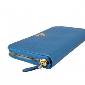 Prada Blue Metal  Wallet
