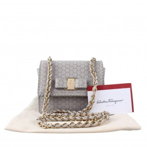 Salvatore Ferragamo Grey Sling Bag