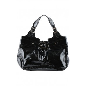Anya Hindmarch Black Patent Leather Hand Bag