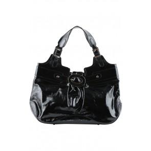 Anya Hindmarch Black Patent Leather Hand Bag