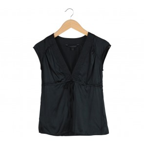 Express Black Satin Blouse