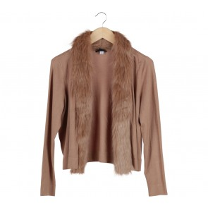 Alfani Brown Furry Cardigan