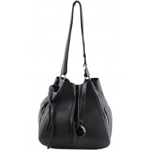 Lamarthe Black Bucket Shoulder Bag