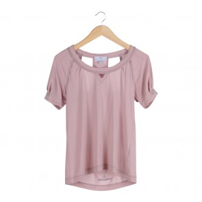Adidas Stella McCartney Pink Cut Out T-Shirt