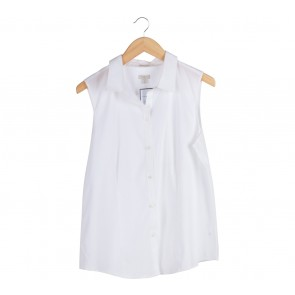Talbots White Sleeveless Shirt