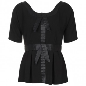 Vera Wang Lavender Label Black Shirt