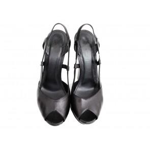 Yves Saint Laurent Black Wedges