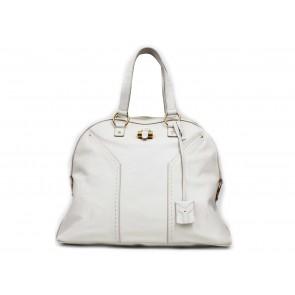 Yves Saint Laurent Cream Large Muse Shoulder Bag