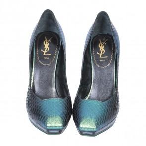 Yves Saint Laurent Green Heels