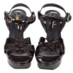 Yves Saint Laurent Maroon Sandals