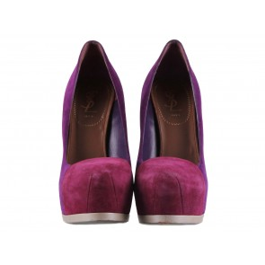 Yves Saint Laurent Purple Heels