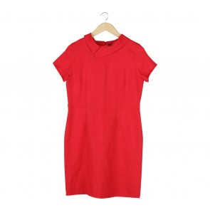 Eprise Red   Midi Dress